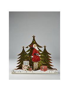 gisela-graham-santa-with-trees-3d-wooden-ornament