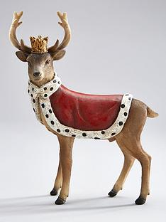 gisela-graham-regal-crowned-stag-christmas-decoration