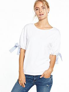 v-by-very-stripe-bow-t-shirt