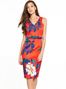closet-floral-belted-pencil-dress
