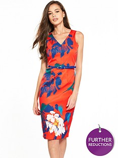 closet-floral-belted-pencil-dress