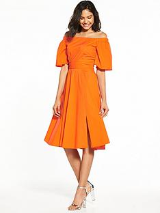 closet-nbspcloset-off-shoulder-bardot-dress-orange