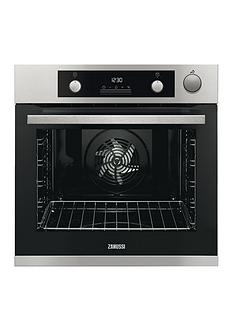zanussi-zos37972xk-60cm-built-in-single-electric-oven-stainless-steel