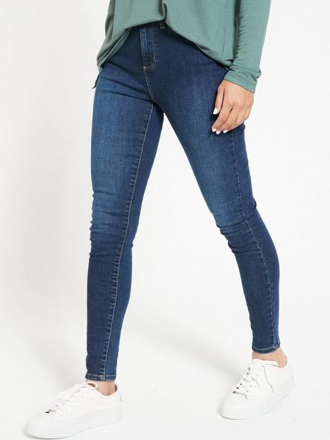 v-by-very-florencenbsphigh-rise-skinny-jeans--nbspindigo