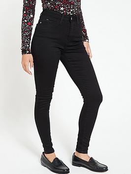 V by Very V By Very Short Florence High Rise Skinny Jeans - Black Picture