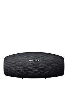philips-wireless-portable-speaker-bt6900bnbsp-nbsp10w-long-bluetoothnbsprange-waterproof-10-hour-battery-quick-charge-black