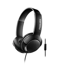 philips-flat-foldable-on-the-ear-headset-with-32mm-high-power-neodymium-speaker-drivers-deliver-massive-bass-features-control-and-mic-12m-cable-and-contemporary-design