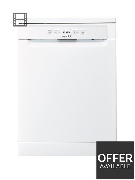 hotpoint-hfc2b19ukn-13-place-full-size-dishwasher-with-quick-wash-white