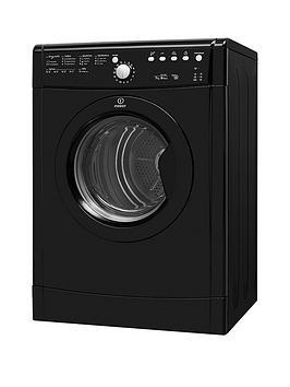 Indesit Indesit Ecotime Idvl75Brk.9 7Kg Vented Sensor Tumble Dryer - Black Picture