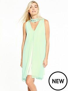 wallis-mint-embrodiered-overlayer-dress