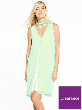wallis-mint-embroiderednbspoverlayer-dress