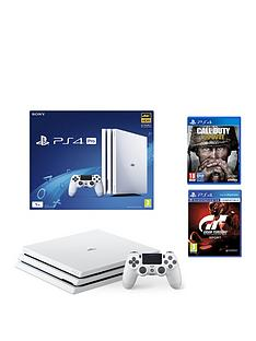 playstation-4-pro-white-console-with-call-of-duty-wwii-and-gran-turismo-sport