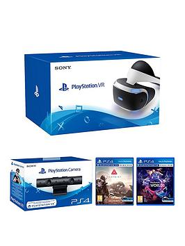 Playstation Vr Playstation Vr Headset With Playstation Camera Vr Worlds And Farpoint