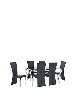 Very  Boutique 163 Cm Dining Table + 6 Chairs (Arrives In One Delivery)