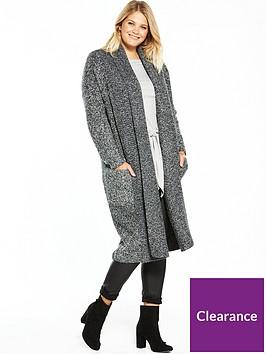 v-by-very-curve-chunky-longline-cardigan-grey