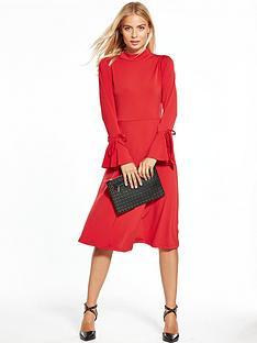 v-by-very-jersey-tie-sleeve-midi-dress