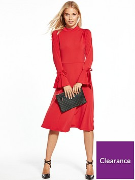 v-by-very-jersey-tie-sleeve-midi-dress