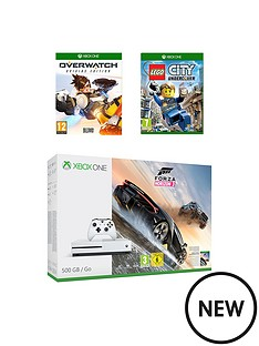 xbox-one-s-500gb-console-forza-horizon-3-with-overwatch-and-lego-plus-12-months-live-subscription-and-extra-controller