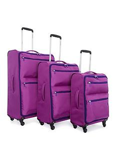 revelation-by-antler-weightless-4-wheel-3-piece-luggage-set