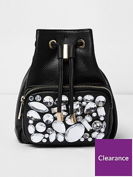 river-island-river-island-mini-gem-embellished-back-pack