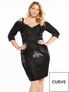 little-mistress-curve-little-mistress-curve-cold-shoulder-midi-dress