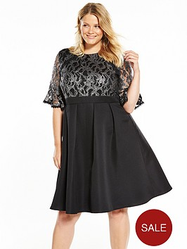 little-mistress-curve-baroque-lace-skater-dress-black