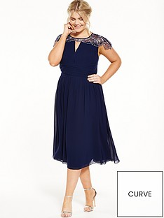little-mistress-curve-cap-sleeve-midi-dress-navy