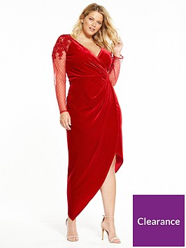little-mistress-curve-red-wrap-dress