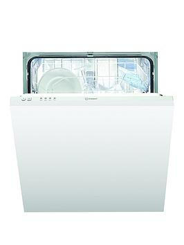Indesit   Dif04B1 13-Place Full Size Integrated Dishwasher, A+ Energy - White - Dishwasher Only