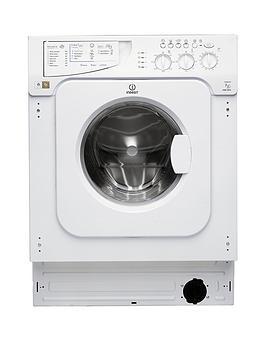 indesit iwme127 7kg load, 1200 spin integrated washing machine  - washing machine with installation