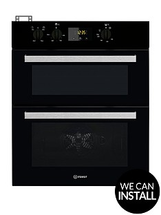 indesit-aria-idu6340bl-built-under-double-electric-oven-black