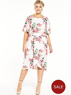closet-curve-round-neck-printed-dress-with-tie