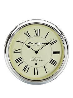 round-roman-numeral-chrome-wall-clock