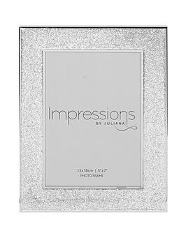 Very Silver Plated Glitter Photo Frame Picture