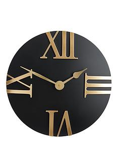 hometime-domed-roman-quarter-dial-wall-clock