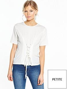miss-selfridge-petite-corset-t-shirt