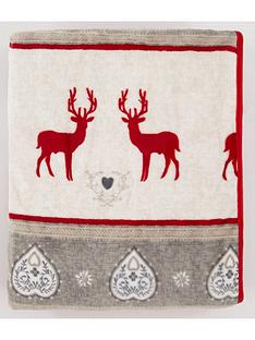 printed-christmas-reindeer-fleece-throw