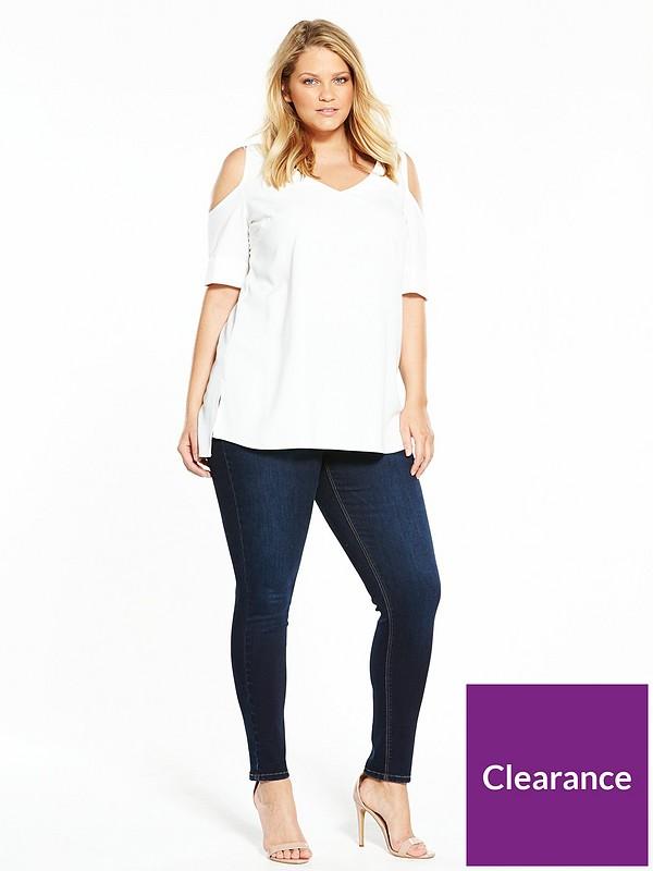 V By Very Curve Body Sculpt Contour Skinny Jeans Size 26