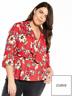 v-by-very-curve-ruffle-detail-wrap-blouse