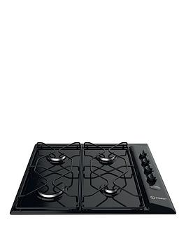 Indesit   Aria Paa642Ibk 58Cm Built-In Gas Hob With Fsd - Black - Hob Only