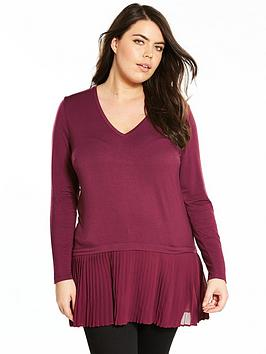 v-by-very-curve-pleat-hem-jersey-top-merlotnbsp