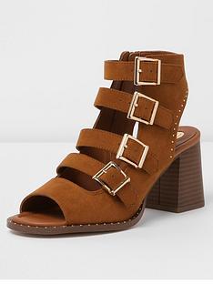 river-island-tan-block-heel-sandal