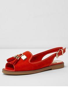 river-island-red-flat-sling-back-shoe