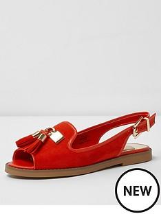 river-island-river-island-rascal-red-flat-sling-back-shoe