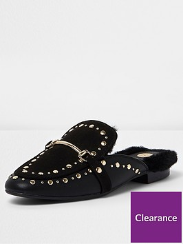 river-island-faux-fur-studded-loafer