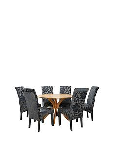 starburst-119-cm-oak-veneer-circular-dining-table-4-oxford-chairs