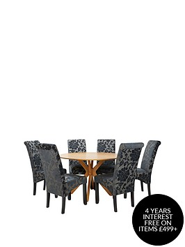 starburst-119-cm-oak-veneer-circular-dining-table-6-oxford-chairs