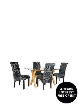 venla-150-cm-solid-wood-and-glass-dining-table-4-oxford-chairs