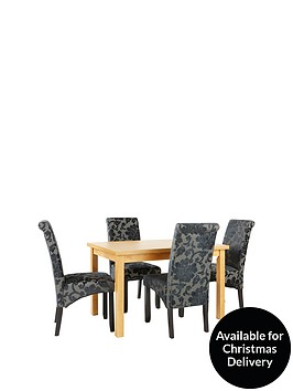 evelyn-120-150-cm-solid-wood-extending-dining-table-4-oxford-chairs