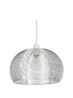 ideal-home-manhattan-silver-domed-pendant-shade